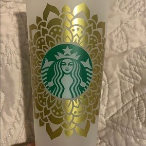 Starbucks cup- custom mandala design